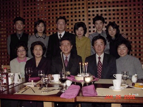 family gathering at Roh, Moo Hyun younger brother birthday Summer 2002