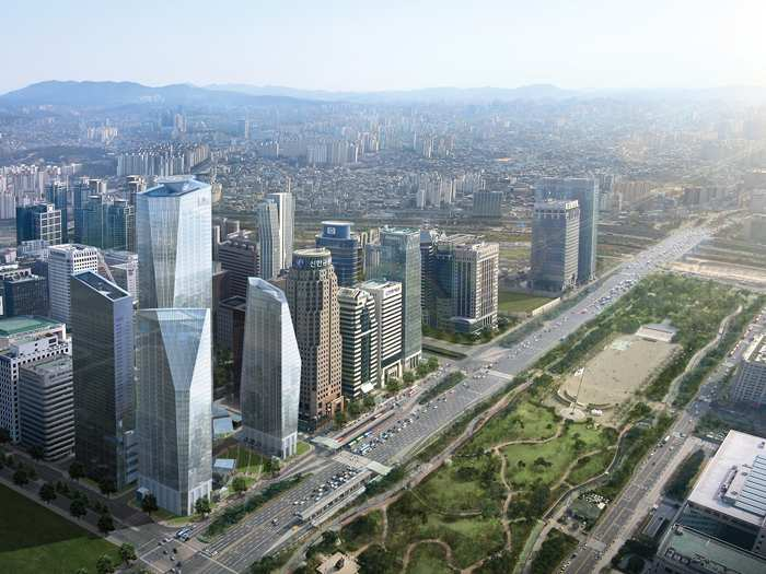 Panoramic View of Yeouido with IFC Seoul & Yeouido Park
